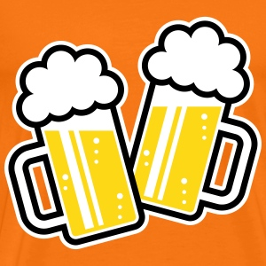 2 Clinking Beer Glasses For A Cheer! (3C) T-Shirt - Men's Premium T-Shirt