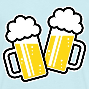 2 Clinking Beer Glasses For A Cheer! (3C) T-Shirt - Men's T-Shirt