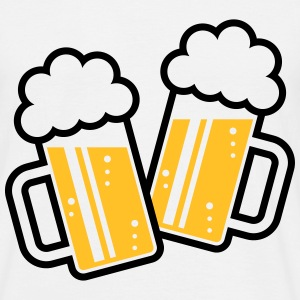 2 Clinking Beer Glasses For A Cheer! (2C) T-Shirts - Men's T-Shirt