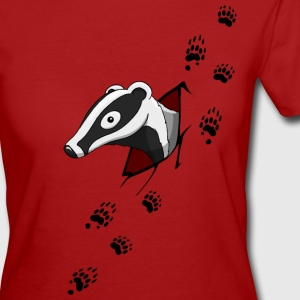 Badger with traces  T-Shirts - Women's Organic T-shirt