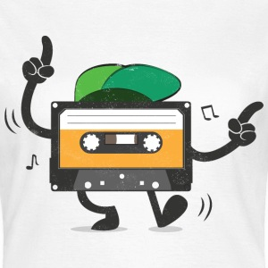 Dancing Cassette Tape (Vintage Style) T-shirts - Dame-T-shirt