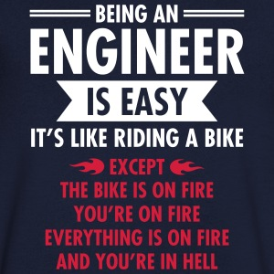Being An Engineer Is Easy... T-shirts - Herre T-shirt med V-udskæring