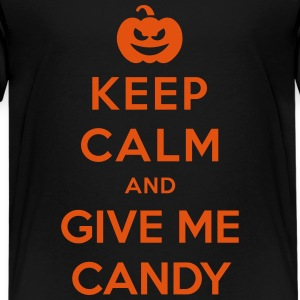 Keep Calm Give Me Candy - Funny Halloween Shirts - Teenage Premium T-Shirt