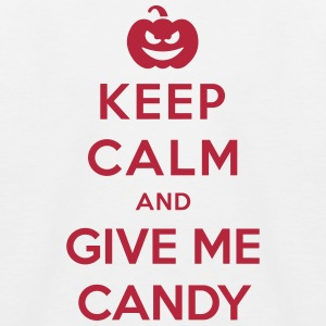 Keep Calm Give Me Candy - Funny Halloween Shirts - Kids' Baseball T-Shirt