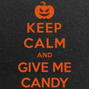 Keep Calm Give Me Candy - Funny Halloween Caps & Hats - Jersey Beanie