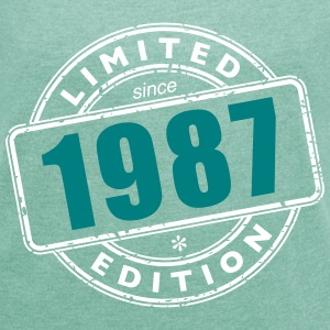 LIMITED EDITION SINCE 1987 T-Shirts - Frauen T-Shirt mit gerollten Ärmeln