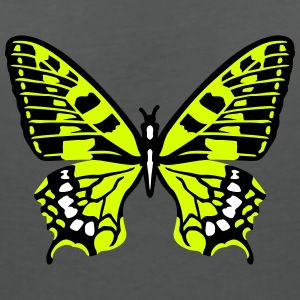 Yellow butterfly T-Shirts - Women's V-Neck T-Shirt