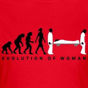 evolution_sanitaeterin_09_201601_3c T-Shirts - Frauen T-Shirt