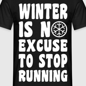 Winter Jogging T-Shirts - Männer T-Shirt