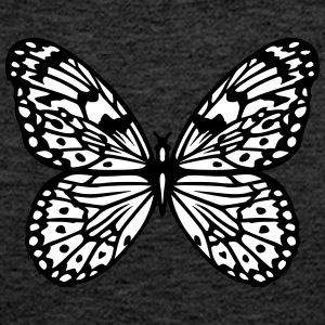 Black and white butterfly Tops - Women's Premium Tank Top