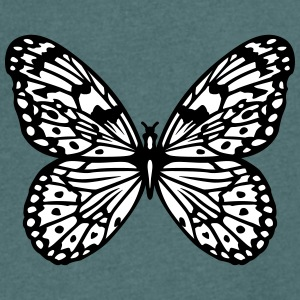 Black and white butterfly T-Shirts - Men's V-Neck T-Shirt