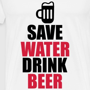 Save Water Drink Beer  - Camiseta premium hombre