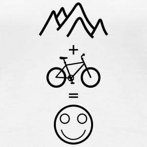 happy mountain biking T-Shirts - Frauen Premium T-Shirt