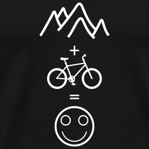 happy mountain biking T-Shirts - Männer Premium T-Shirt