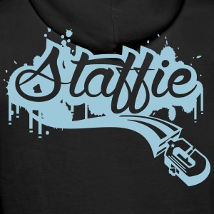 Staffie graffiti Sweat-shirts - Sweat-shirt à capuche Premium pour hommes