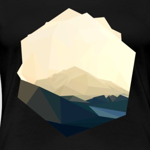 berg polygon T-Shirts - Frauen Premium T-Shirt