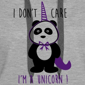 I don't care i'm a unicorn -  sprüche - Frauen Premium Hoodie