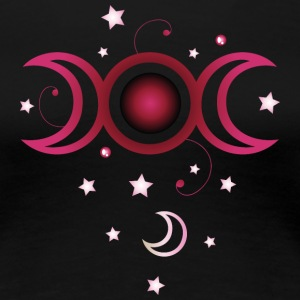Triple moon, bunt T-Shirts - Frauen Premium T-Shirt