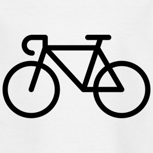 Rennrad / Fahrrad (Icon / Piktogramm) T-Shirts - Teenager T-Shirt