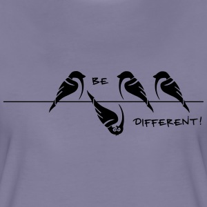 Vögel - Spatz 'be different' - Frauen Premium T-Shirt