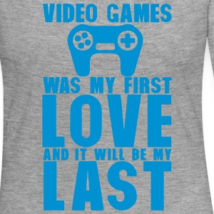 video games was my first love last manet Langarmshirts - Frauen Premium Langarmshirt