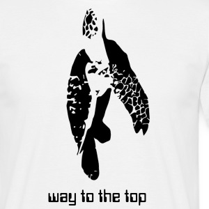 t-shirt tortue blanc way to the top - T-shirt Homme