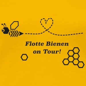 Flotte Bienen on Tour! - Frauen Premium T-Shirt