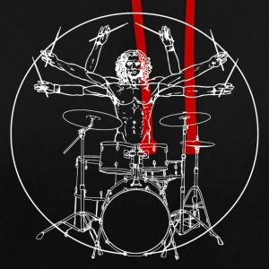 Da Vinci Rocks drums Sweat-shirts - Sweat-shirt contraste