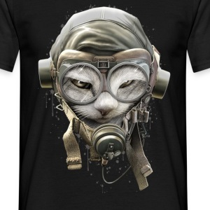 PILOTCAT (SPATTER) - Men's T-Shirt