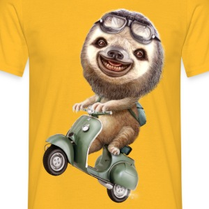 RUNAWAY SLOTH - Men's T-Shirt