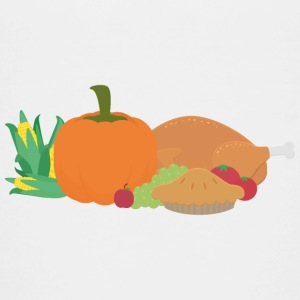 Thanksgiving kalkoen en pompoen Shirts - Teenager Premium T-shirt