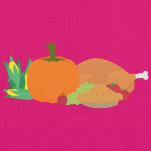 Thanksgiving Turkey and pumpkin Bags & Backpacks - EarthPositive Tote Bag