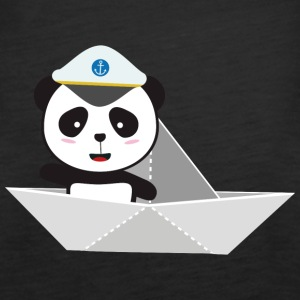 Captain Panda paper boat Tops - Women's Premium Tank Top