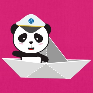 Captain Panda paper boat Bags & Backpacks - EarthPositive Tote Bag