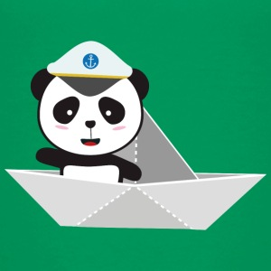 Captain Panda paper boat Shirts - Teenage Premium T-Shirt
