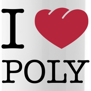 I Love Poly - Trinkflasche