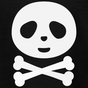 Kawaii Panda Pirate skull Camisetas - Camiseta adolescente