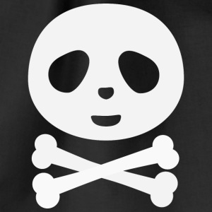 Kawaii Panda Pirate skull Bags & Backpacks - Drawstring Bag