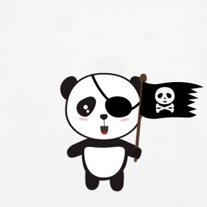Pirate Panda with flag Tops - Women's Premium Tank Top
