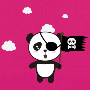 Pirate Panda with flag Bags & Backpacks - EarthPositive Tote Bag