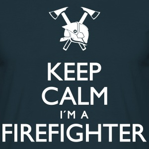 Keep calm Firefighter - Männer T-Shirt