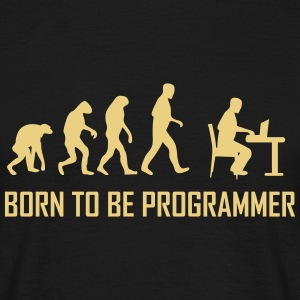born to be programmer T-Shirts - Männer T-Shirt