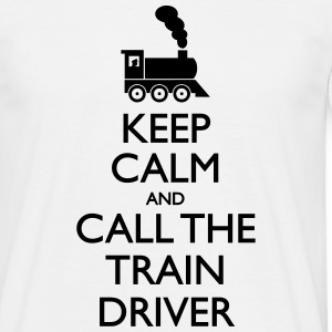 Keep Calm Train Driver - Männer T-Shirt