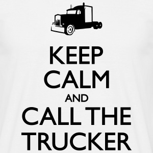 Keep calm and Call the trucker Tee shirts - T-shirt Homme