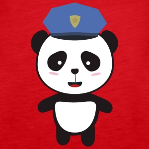Panda-politimann Topper - Premium singlet for kvinner