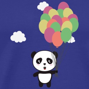 Panda with colorful balloons T-Shirts - Men's Premium T-Shirt