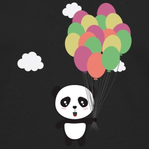 Panda with colorful balloons Long sleeve shirts - Men's Premium Longsleeve Shirt