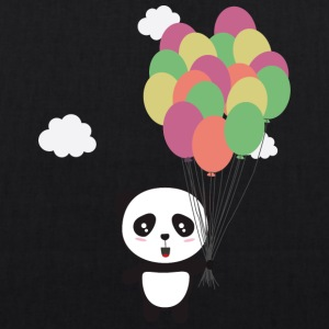 Panda with colorful balloons Bags & Backpacks - EarthPositive Tote Bag