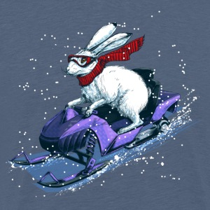 Hare Snowmobile T-Shirts - Men's Premium T-Shirt