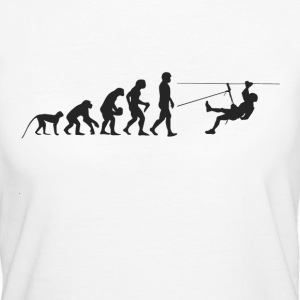 Evolution Abseilen T-Shirts - Frauen Bio-T-Shirt